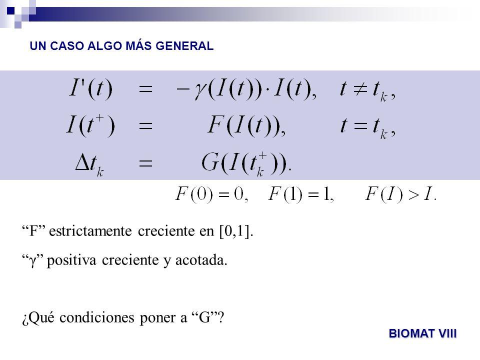 F estrictamente creciente en [0,1].